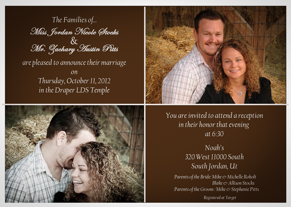 wedding announcements mike s photo